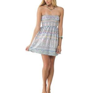 O'Neill Avette Smocked Strapless Dress